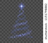 christmas tree 3d for card.... | Shutterstock .eps vector #1151798882