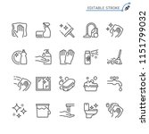 cleaning line icons. editable... | Shutterstock .eps vector #1151799032