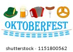 oktoberfest banner with with... | Shutterstock .eps vector #1151800562