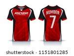 t shirt sport design template ... | Shutterstock .eps vector #1151801285