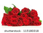 Stock photo red roses isolated on white background 115180318