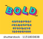 vector of modern bold font and... | Shutterstock .eps vector #1151803838