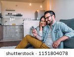 close up image of couple... | Shutterstock . vector #1151804078