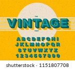 vector of stylized vintage font ... | Shutterstock .eps vector #1151807708
