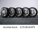 car wheel  car tire standing on ...   Shutterstock . vector #1151816495