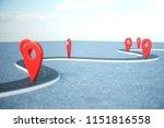 road way location infographic... | Shutterstock . vector #1151816558