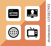 wide icon. 4 wide set with... | Shutterstock .eps vector #1151817452