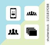 society icon. 4 society set... | Shutterstock .eps vector #1151819288