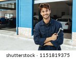 professional auto mechanic in... | Shutterstock . vector #1151819375