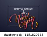 2019 new year of a colorful... | Shutterstock .eps vector #1151820365