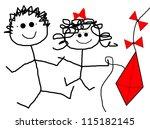 children   kite | Shutterstock . vector #115182145