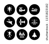 9 aviation icons in vector set. ... | Shutterstock .eps vector #1151823182