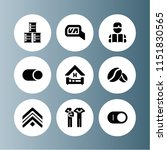 9 wall icons in vector set.... | Shutterstock .eps vector #1151830565