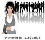 business people | Shutterstock .eps vector #115183576