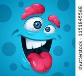 funny  cute  crazy monster...   Shutterstock .eps vector #1151845568