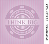 think big badge with pink... | Shutterstock .eps vector #1151847665