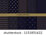 vector set of 12 simple... | Shutterstock .eps vector #1151851622