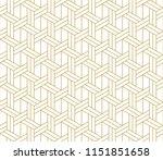 abstract geometric   golden... | Shutterstock .eps vector #1151851658