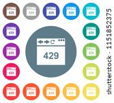 browser 429 too many requests... | Shutterstock .eps vector #1151852375