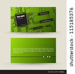 music business card with audio... | Shutterstock .eps vector #115185376