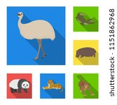 different animals flat icons in ...   Shutterstock .eps vector #1151862968