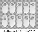 realistic hotel room hangers... | Shutterstock .eps vector #1151864252