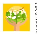 nature atmosphere and clean...   Shutterstock .eps vector #1151866712