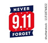 911 patriot day banner and badge | Shutterstock .eps vector #1151876822
