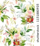 seamless summer pattern with... | Shutterstock . vector #1151880935