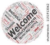 vector conceptual abstract... | Shutterstock .eps vector #1151913062