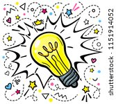 concept of idea. light bulb in... | Shutterstock .eps vector #1151914052