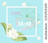 Love Mom Card Decorated With...