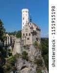 view of lichtenstein castle in... | Shutterstock . vector #1151915198