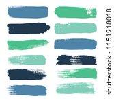 brush strokes set backgrounds....   Shutterstock .eps vector #1151918018