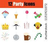 party icon set. color  design....   Shutterstock .eps vector #1151921072