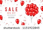 sale banner with red balloons... | Shutterstock .eps vector #1151922845