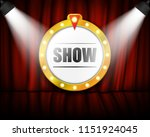theater sign on curtain with... | Shutterstock .eps vector #1151924045