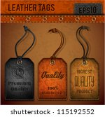 leather tags set   eps 10 | Shutterstock .eps vector #115192552