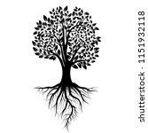 black tree silhouette. tree... | Shutterstock .eps vector #1151932118