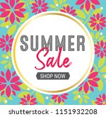 summer sale graphic with bold ... | Shutterstock .eps vector #1151932208