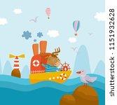 beautiful childish illustration.... | Shutterstock .eps vector #1151932628
