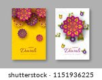 diwali festival holiday posters ... | Shutterstock .eps vector #1151936225