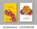 diwali festival holiday posters ... | Shutterstock .eps vector #1151936228