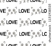 seamless patterns with cats... | Shutterstock .eps vector #1151938535