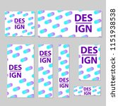 web banners set with creative... | Shutterstock .eps vector #1151938538