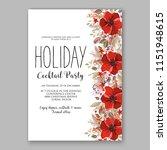 merry christmas invitation... | Shutterstock .eps vector #1151948615