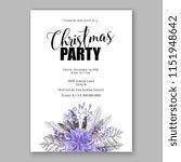 violet poinsettia merry... | Shutterstock .eps vector #1151948642