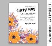 merry christmas invitation... | Shutterstock .eps vector #1151948945
