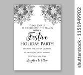 floral winter wreath vector... | Shutterstock .eps vector #1151949902