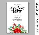 merry christmas party vector...   Shutterstock .eps vector #1151950055
